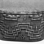Storage Basket with traces of painted design