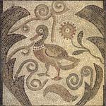 Mosaic of Duck Facing Left in Vines