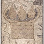 Mosaic of Square Basket with Fruit