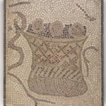 Mosaic of Round Basket with Bread