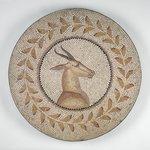 Mosaic of a Gazelle in a Vine