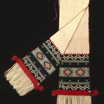 Dance Sash with Possible Representation of Broadface Kachina Mask