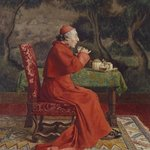 Cardinal Taking Tea