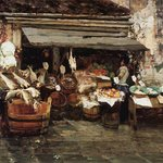 Market Scene in Venice