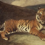 Tiger Reclining (Tigre couch&eacute;)