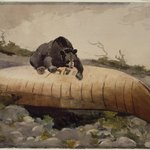 Bear and Canoe