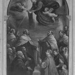 Two-sided Processional Banner Obverse: The Annunciation Reverse: Apparition of the Virgin with the Carmelite Scapular