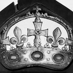 Panel depicting Jewelled Crown