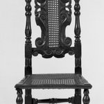 Side Chair with Carved Cresting