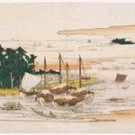 Returning Sails at Tsukuda, from Eight Views of Edo