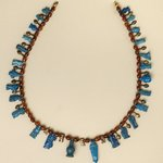 Necklace with Bes and Taweret Pendants