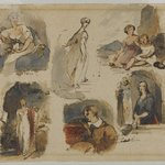 [Untitled] (Six Figure Studies) (recto) and [Untitled] (Seven Figure Studies) (verso)