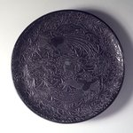 Large Circular Tray with Design of Two Birds