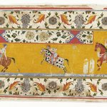 Section of a border with Polo Players