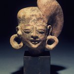 Head of a Figure with Baroque Headdress