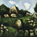 Green Landscape with Rocks, No. 2