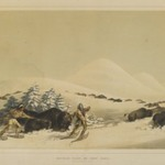 Buffalo Hunt, on Snow Shoes