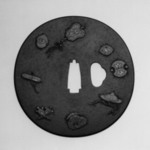 Tsuba (Sword Guard) with Shippo (Seven Treasures) Design