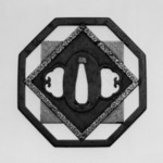 Octagon-Shaped Tsuba (Sword Guard)