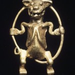 Effigy Animal Figurine Swinging on Its Tail