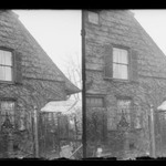 Rem Lefferts House, West Gable, Fulton Street opposite Arlington Place near Bedford, Brooklyn