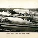 Cohoes Falls from Hill above Cohoes, New York