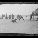 Boy and Dog, Iron Pier, Coney Island, Brooklyn