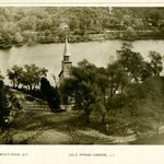 Church and Pond, Cold Spring Harbor, Long Island