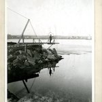 North End of Dam, Hallets Point, Long Island