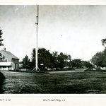Street and Flagpole, Southampton, Long Island