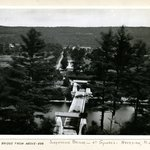 The Bridge from above, Suspension Bridge at Guymards, Navesink, New Jersey