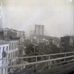 Brooklyn Bridge and Elevated Road to Fulton Ferry