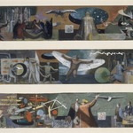 Three Studies for Flight Mural at Marine Air Terminal, LaGuardia Airport
