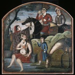 Khusraw Discovers Shirin Bathing, From Pictorial Cycle of Eight Poetic Subjects