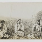 [Untitled] (Three Women Seated in a Field with Two Young Children)