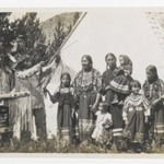 [Untitled] (Two Chiefs, Three Women, and Five Children in front of a Teepee)