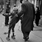 Girl Learning to Skate (Livonia Avenue, East New York), from the series An Era Past: Photographs of Brownsville and East New York, Brooklyn