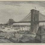 The New York and Brooklyn Suspension Bridge from the Brooklyn Side