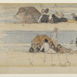Two Sketches of Beach Figures