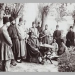 Mozaffar al-Din Shah and Attendants Seated in a Garden,  One of 274 Vintage Photographs