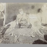 Mozaffar al-Din Shah Seated above a Hunted Leopard, One of 274 Vintage Photographs