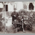 Mozaffar al-Din Shah with Amin al-Soltan in Garden, One of 274 Vintage Photographs