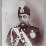 Bust Portrait of Mozaffar al-Din Shah in Coronation Regalia,  One of 274 Vintage Photographs