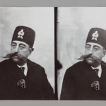 A Double Portrait of Mozaffar al-Din Shah, One of 274 Vintage Photographs