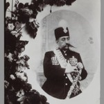 Photograph of a Photograph of Mozaffar al-Din Shah in Coronation Regalia,  One of 274 Vintage Photographs