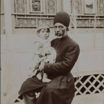 Dowlet Morad Bek & child (Torkmen),  One of 274 Vintage Photographs