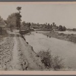 Thatched Cottage by River, possibly Caspian Area, One of 274 Vintage Photographs