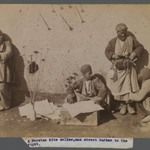A Persian Kite Seller and Street Barber,  One of 274 Vintage Photographs