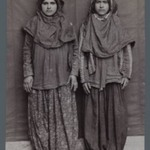 Two Woman Posing in Provincial Costumes including Pantaloons Chaqchur, One of 274 Vintage Photographs