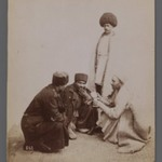 Two Persian Peasants and Two Persian Officers Gambling,  One of 274 Vintage Photographs